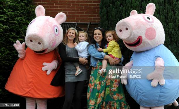 Family's meet 'Peppa Pig and George' at Lingfield Park