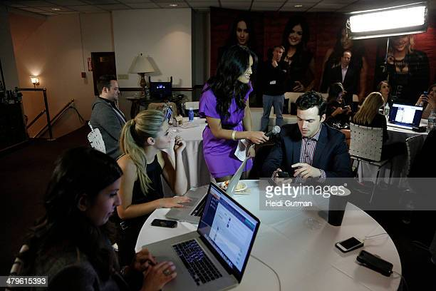 Family's PRETTY LITTLE LIARS cast and Executive Producers gather at New York's Ziegfeld Theatre on 3/18/14 for a live table read and social media...