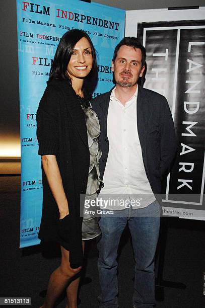 Famke Janssen and Chris Eigeman attend the 2008 Film Independent's Preview Screening of Turn The River on May 6 2008 at The Landmark Theater in Los...
