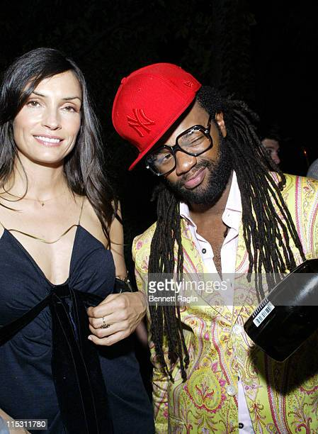 Famke Janssen and Coltrane Curtis during 2006 MTV Video Music Awards Sapporo Maybach Present Common Famke Janssen's VMA Cookout 2006 at Sky Studios...