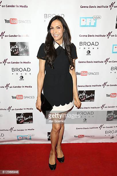 Famke Janssen arrives at the 'Jack Of The Red Hearts' Symposium at YouTube Space LA Presented by Bentonville Film Festival The Wrap The Geena Davis...