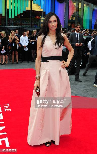 Famke Janssen arriving for the UK Premiere of The Wolverine at the Empire Leicester Square London