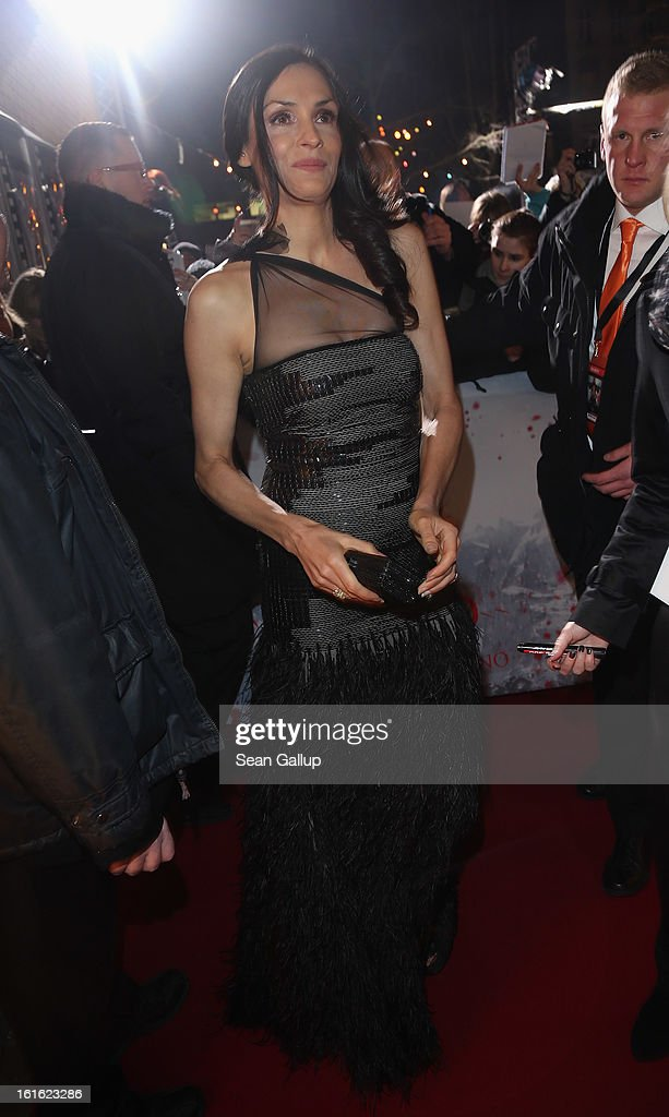 Famke Janssen attends the German premiere of 'Hansel and Gretel: Witch Hunters' at the Kulturbrauerei on February 12, 2013 in Berlin, Germany.