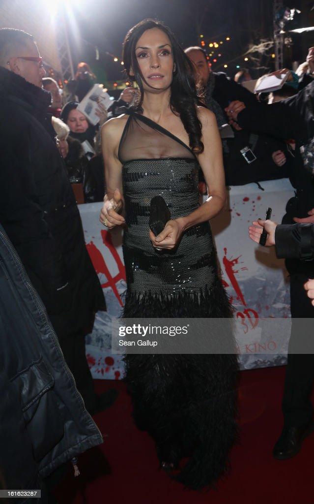 Famke Janssen attends the German premiere of 'Hansel and Gretel Witch Hunters' at the Kulturbrauerei on February 12 2013 in Berlin Germany