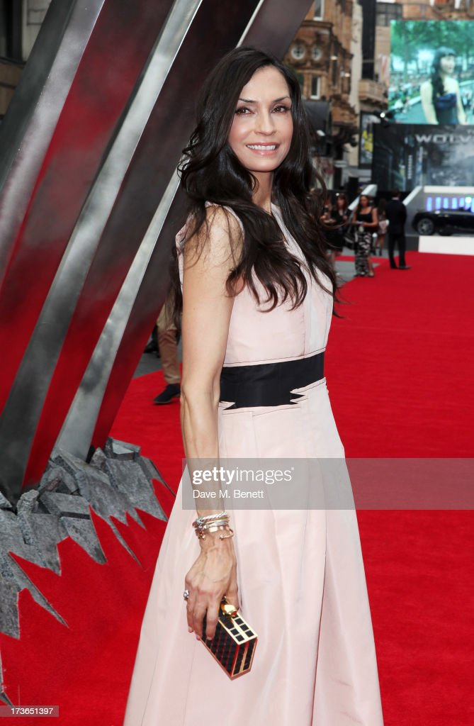 <a gi-track='captionPersonalityLinkClicked' href=/galleries/search?phrase=Famke+Janssen&family=editorial&specificpeople=202594 ng-click='$event.stopPropagation()'>Famke Janssen</a> attends the UK Premiere of 'The Wolverine' at Empire Leicester Square on July 16, 2013 in London, England.