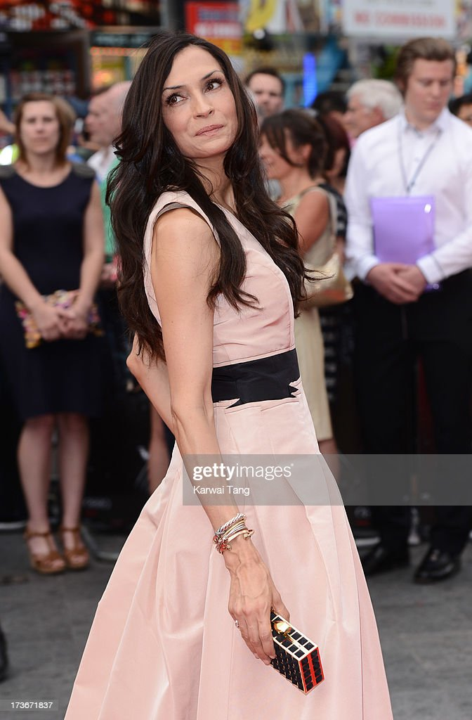 Famke Janssen attends the UK premiere of 'The Wolverine' at Empire Leicester Square on July 16, 2013 in London, England.