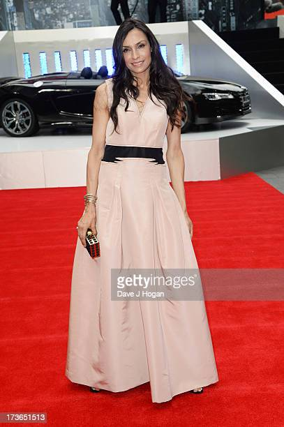 Famke Janssen attends the UK premiere of 'The Wolverine' at The Empire Leicester Square on July 16 2013 in London England