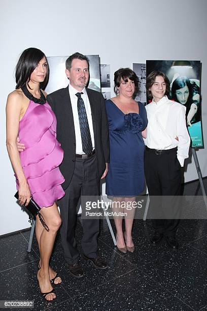 Famke Janssen Chris Eigeman Amy Armstrong and Jaymie Dorman attend The New York City Premiere of TURN THE RIVER at MoMA on April 20 2008 in New York...