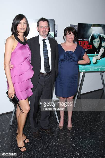 Famke Janssen Chris Eigeman and Amy Armstrong attend The New York City Premiere of TURN THE RIVER at MoMA on April 20 2008 in New York City