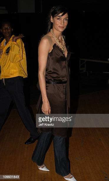 Famke Janssen during 2003 MTV Movie Awards Backstage and Audience at The Shrine Auditorium in Los Angeles California United States