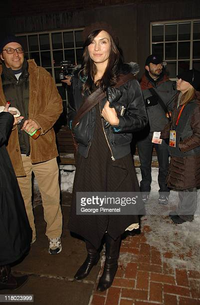 Famke Janssen during 2007 Sundance Film Festival 'The 10' Premiere at The Library in Park City Utah United States