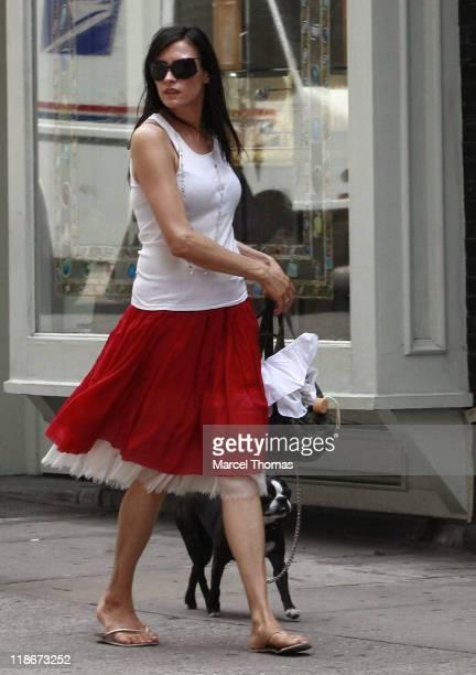 Famke Janssen during Famke Janssen Sighting in New York City June 28 2006 in New York City New York United States