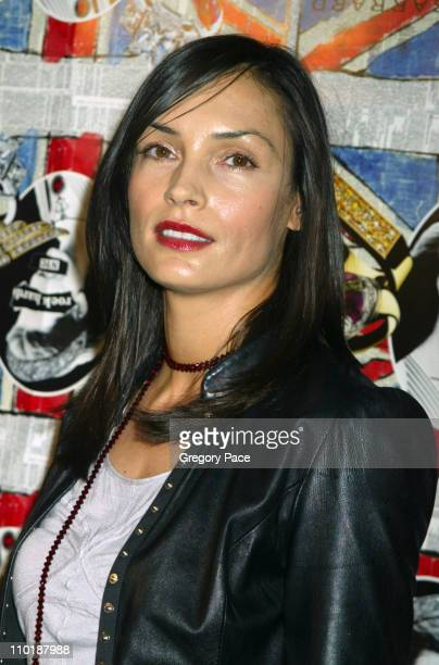 Famke Janssen during Jade Jagger Hosts Garrard 'Rock Hard' US Launch Party Inside Arrivals at Gramercy Park Hotel in New York City New York United...