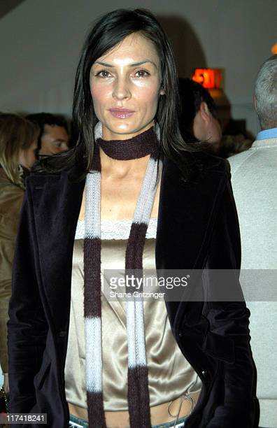 Famke Janssen during The 11th Annual Hamptons International Film Festival New Line Cinema Party at Nick and Tonis in EastHampton New York United...