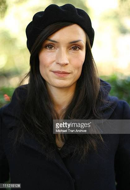 Famke Janssen during XMen Star Famke Janssen to Unveil Sexy New PETA Ad Seeking Holiday Help for Pups at Runyon Canyon Park in Los Angeles California...