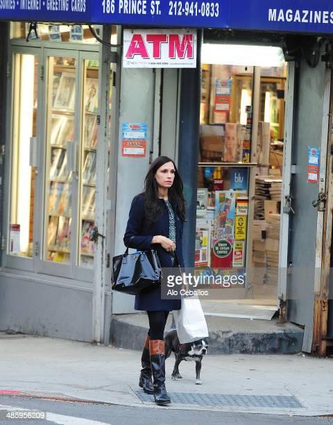 Famke Janssen is seen in Soho on April 21 2014 in New York City