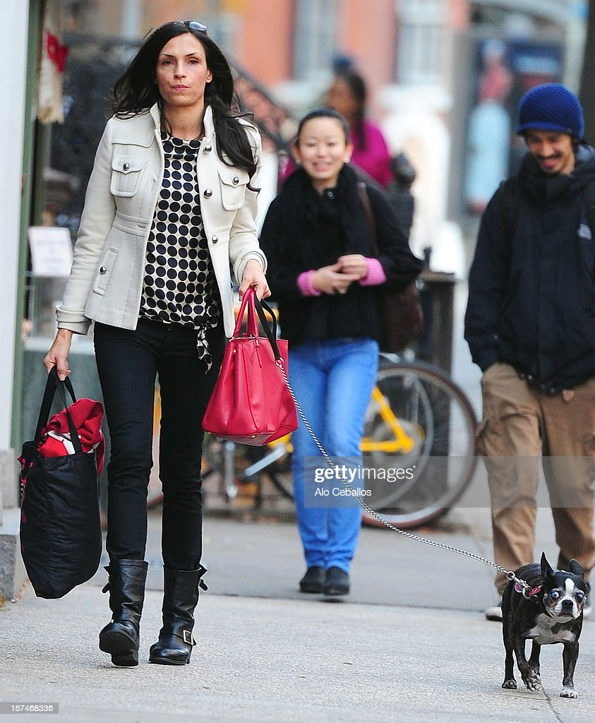 Famke Janssen is seen in the Soho at Streets of Manhattan on December 3, 2012 in New York City.