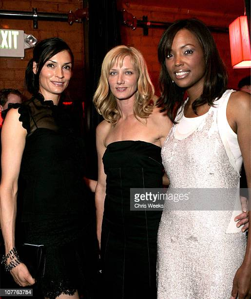Famke Janssen Joely Richardson and Aisha Tyler during 'Nip/Tuck Season 2' Premiere Afterparty at The Forbidden City in Los Angeles California United...