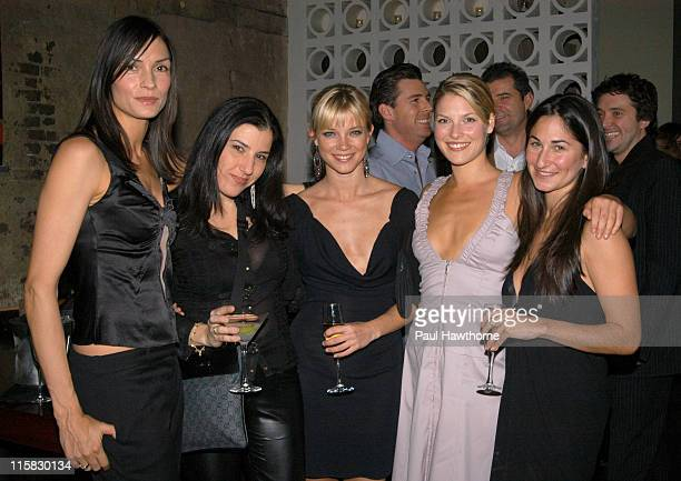 Famke Janssen President and Founder of Step Up Women's Newtwork Kaye Popofsky Amy Smart Ali Larter and Step Up New York Board Member Deborah Marinoff