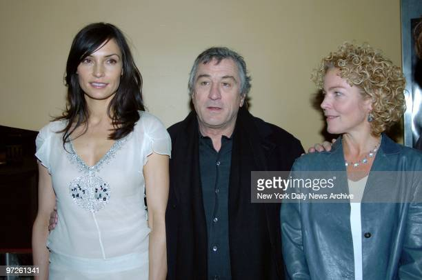 Famke Janssen Robert De Niro and Amy Irving attend a special screening of the movie 'Hide and Seek' at the Beekman Theatre They star in the film
