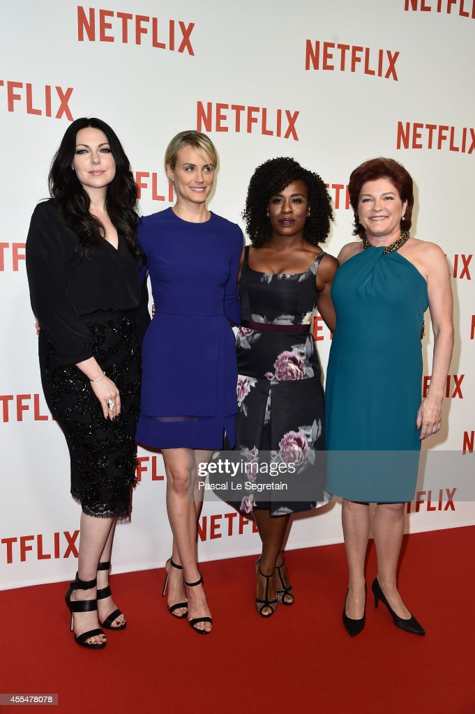 Famke Janssen Taylor Schilling Uzo Aduba and Kate Mulgrew attend the 'Netflix' Launch Party at Le Faust on September 15 2014 in Paris France
