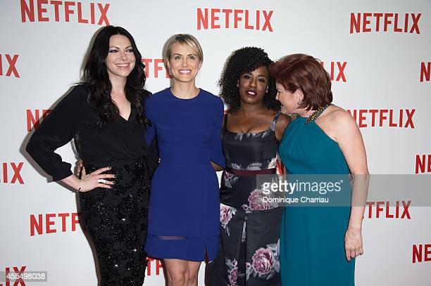 Famke Janssen Taylor Schilling Uzo Aduba and Kate Mulgrew attend the 'Netflix' Launch Party At Le Faust In Paris on September 15 2014 in Paris France