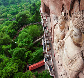 Famous ancient buddha of Maiji Mountain