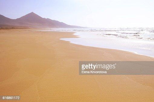 Famous beach Cofete in Fuerteventura. : Stock Photo