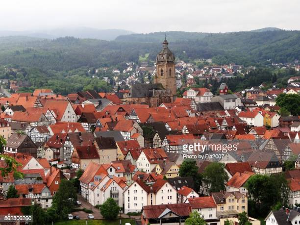 Famous beautiful old town in hesse