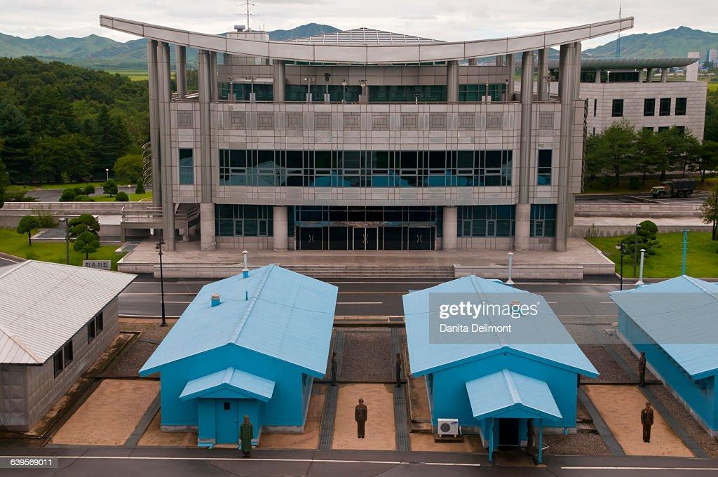 Famous border between North and South Korea, Panmunjom, South Korea