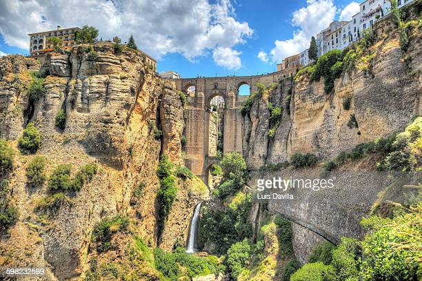 Famous bridge over cavernous cliffs, Ronda