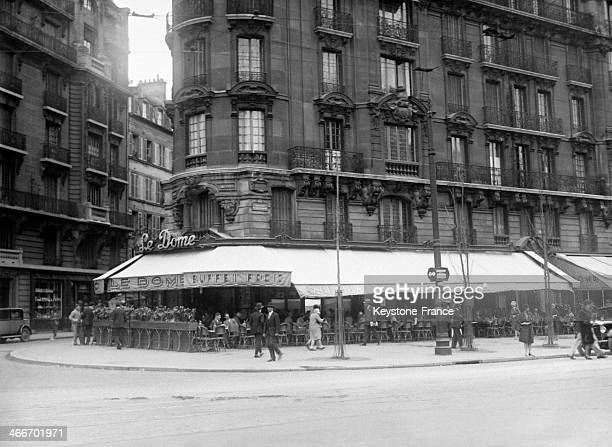 Famous cafe 'Le Dome' in Montparnasse in December 1929 in Paris France