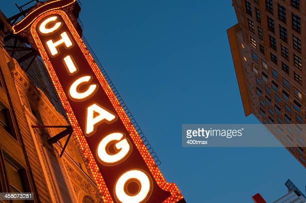 Famous Chicago Marquee Theater Sign