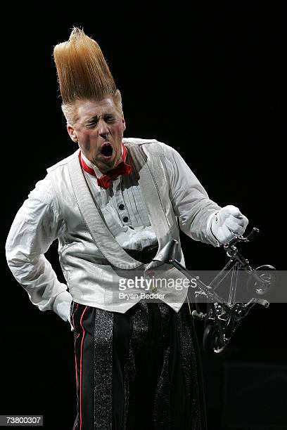 Famous clown Bello Nock performs live during Ringling Bros and Barnum Bailey Circus at Madison Square Garden on April 3 2007 in New York City