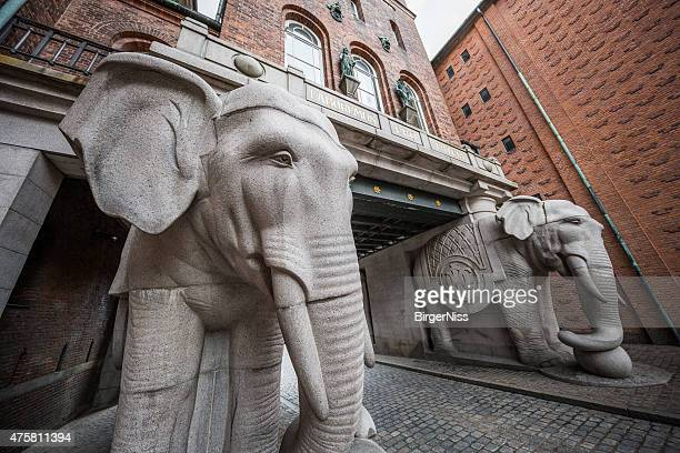 Berühmte Elephant Tor zum Carlsberg-Brauerei, Kopenhagen, Dänemark