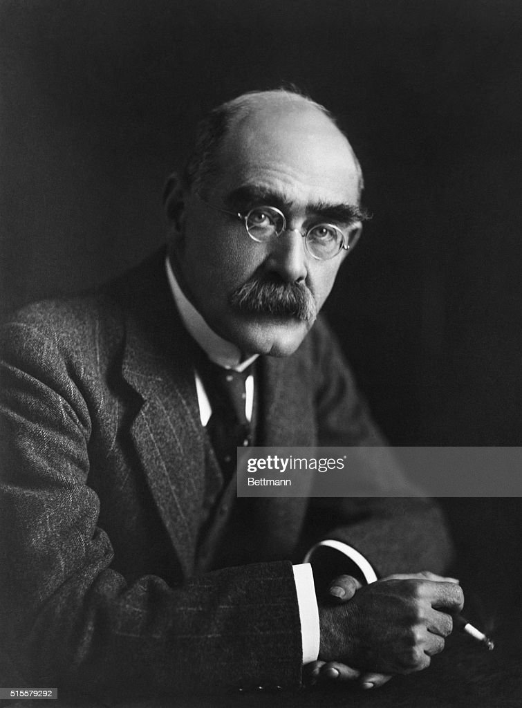 Famous English writer <a gi-track='captionPersonalityLinkClicked' href=/galleries/search?phrase=Rudyard+Kipling&family=editorial&specificpeople=208789 ng-click='$event.stopPropagation()'>Rudyard Kipling</a> smokes a cigarette.