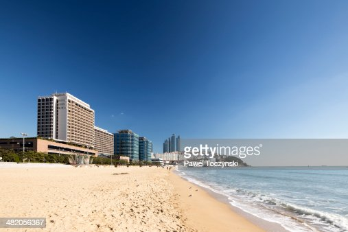 Famous Haeundae Beach and affluent waterfront