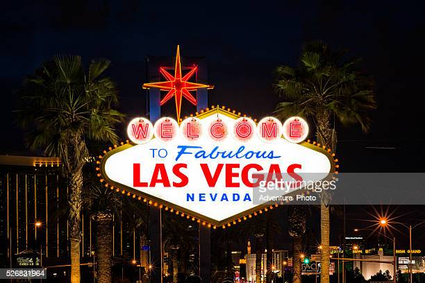 Famous Las Vegas Sign at Night
