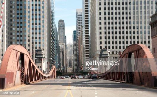 Famous LaSalle Street Bridge