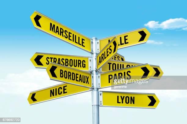 Localités connues en France