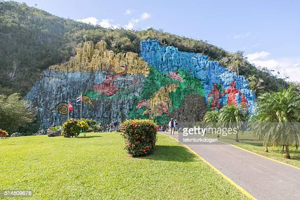 Famous  Mural de la Prehistoria at Vinales of Pinar-del-Rio cuba