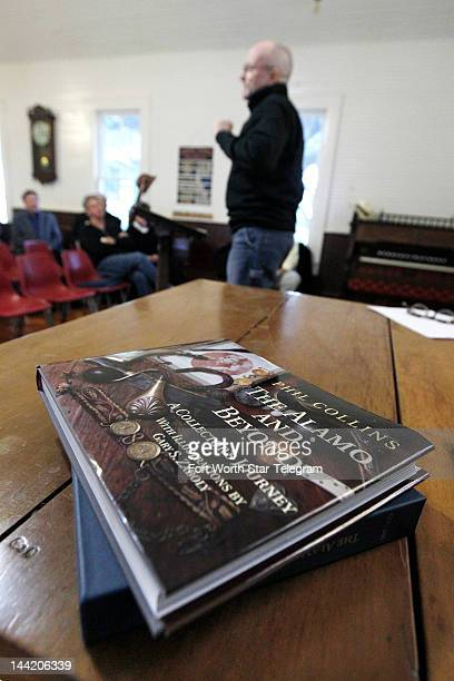 Famous musician Phil Collins speaks about his new book on the Alamo in Buffalo Gap Texas May 8 2012