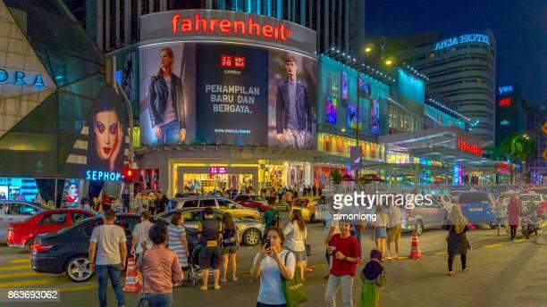 Famous Shopping Street  in Kuala Lumpur, Malaysia