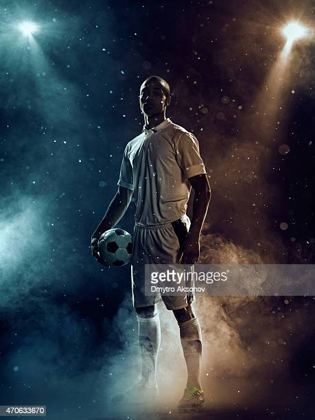 Famous soccer player under highlights