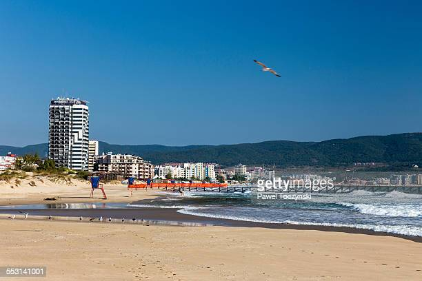 Famous Sunny Beach resort waterfront, Bulgaria