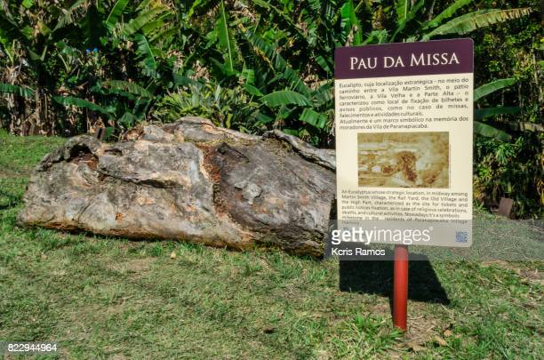 Famous tourist point called pau da massa, in the city of paranapiacaba in brazil, local tells the history of the first inhabitants of the city