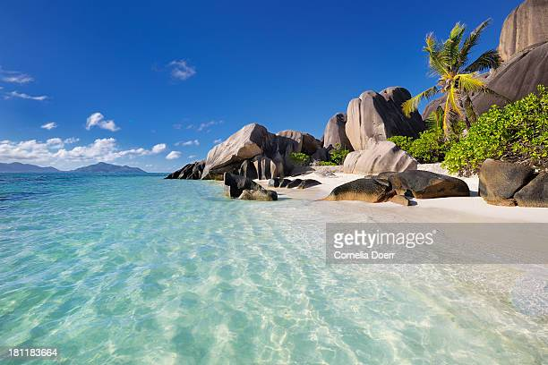 Famous tropical beach of Anse Source d'Argent