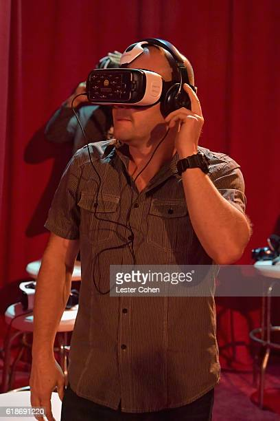 A fan attends Avenged Sevenfold Groundbreaking Global VR Event Live at Iconic Capitol Records Building Band SurpriseReleased New Album The Stage...