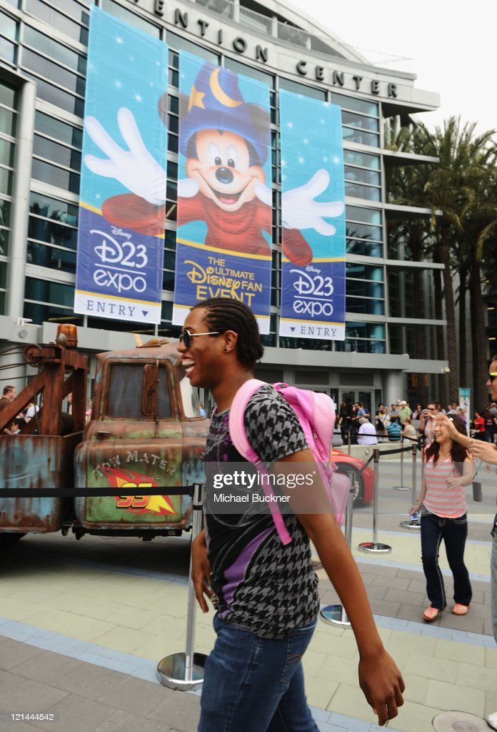 A fan attends Day One of Disney's D23 Expo 2011 at the Anaheim Convention Center on August 19, 2011 in Anaheim, California.