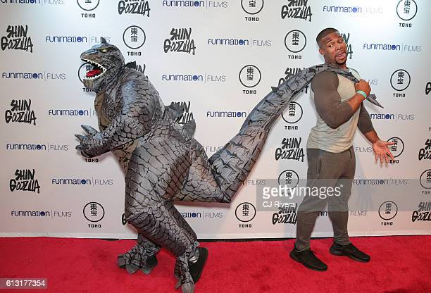 A fan attends 'Shin Godzilla' New York Comic Con Premiere on October 5 2016 in New York City